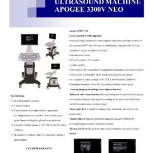 ULTRASOUND MACHINE APOGEE 3300V NEO